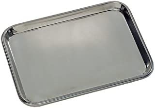 Grafco 3261 Flat Type Instrument Tray, Stainless Steel, 13-5/8