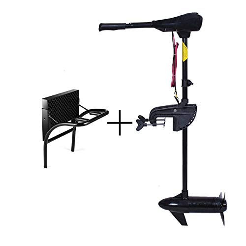 Goplus Electric Trolling Motor & Mounting Kit, 86 LBS Thrust Transom Mounted 8 Speed with Adjustable Handle (Trolling Motor & Mounting Kit)