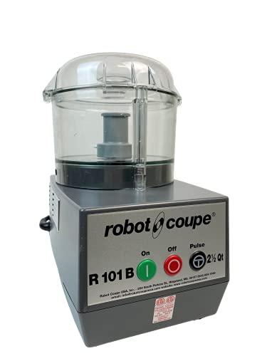 Robot Coupe R101B CLR Combination Food Processor, 2.5 Quart Clear Batch Bowl, Polycarbonate, Clear, 120v