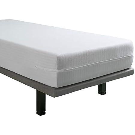 Tural – Funda de colchón Extra elástica y Resistente. Cierre con Cremallera. Talla 160x190/200cm