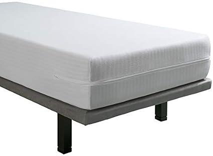 Tural – Funda de colchón Extra elástica y Resistente. Cierre con Cremallera. Pack 2 uds. Talla 90x190/200cm
