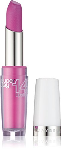 Maybelline New York Make-Up Lippenstift Superstay 14h Lipstick On And On Pink / Glänzendes Pink mit...