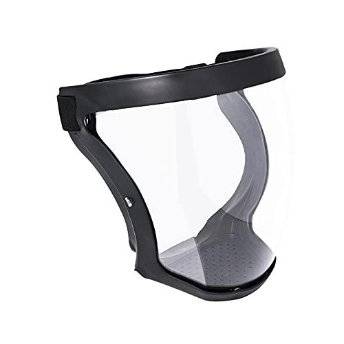 Maschera Facciale Trasparente Durevole Visiera Trasparente Antiappannamento Espressione Visibile Protezione Completa per il Viso per Adulti (Nero)
