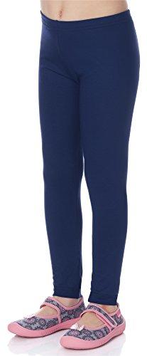 Merry Style Mädchen Lange Leggings aus Viskose MS10-130 (Marineblau, 146)
