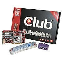 Club-3D All IN Wonder 9800PRO Retail Grafikkarte AGP 128 MB Radeon 9800 Pro TV-Out DVI VIVO Tuner