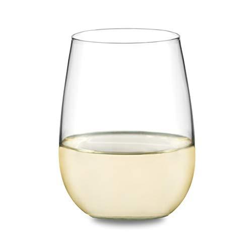 Libbey Vina Stemless White Wine Glasses, Set of 4