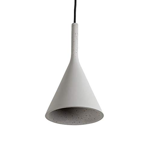 famlights Designer-Pendelleuchte Gerrit, grau | Beton-Deckenlampe modern Hängeleuchte Hängelampe edel Deckenbeleuchtung Deckenlampe Industrie Deckenleuchte Pendellampe Wohnzimmer-Lampe Esszimmer-Lampe