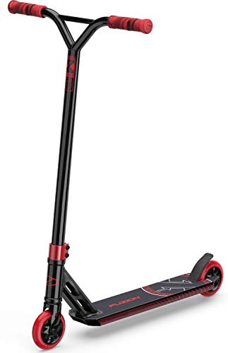 Fuzion X-5 Pro Scooters - Trick Scooter - Beginner Stunt Scooters for Kids 8 Years and Up – Quality Freestyle Kick Scooter for Boys and Girls (2020 Black Red)