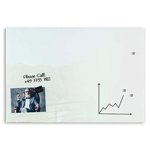 Premium Glas-Magnettafel beschreibbar   TÜV-geprüft   Whiteboard rahmenlos mit Schwebe-Effekt   Pinnwand magnetisch aus Sicherheitsglas   7 Größen (60 x 90 cm) - 4