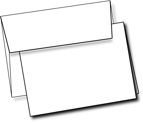 Heavyweight White Blank Cards With White Envelopes 5x 7 Greeting Cards Blank Cards And Envelopes Printable Note Cards With Corresponding Envelopes (40 Pack)