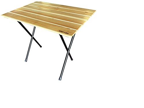Castelmerlino Accessoires voor douche, staal en larikshout, groen reliëf en natuur, 60 x 80 cm