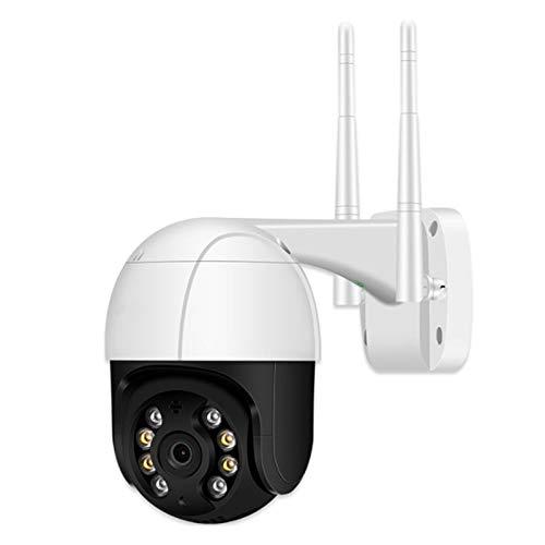 Mogzank CáMara InaláMbrica, Red InaláMbrica WiFi CáMara de Vigilancia una Prueba de Agua CáMara Domo, para el Hogar Al Aire Libre - Enchufe de la UE 1080P