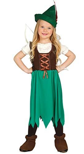 Fancy Me Mädchen-grün Robin Hood Büchertag Halloween Film Kostüm Kleid Outfit 3-9 Jahre - Grün, 3-4 Years