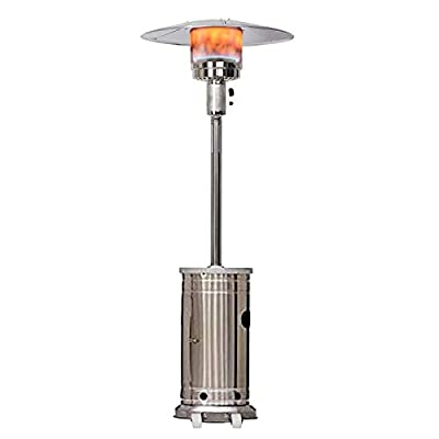 48000 Btu Propane Patio Heater for Outdoor Heating, Stainless Steel Standing Patio Heaters Portable (Stock in US)