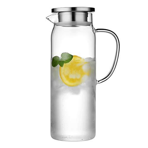Wasserkessel mit hohem Borosilikatglas, Glaskessel, heißer/kalter Wasserkocher, Glaskessel mit Deckel, 1,5 l / 1,7 l, zwei Kapazitäten, geeignet für Milch, kaltes Wasser, Kaffee, Eisgetränke usw.
