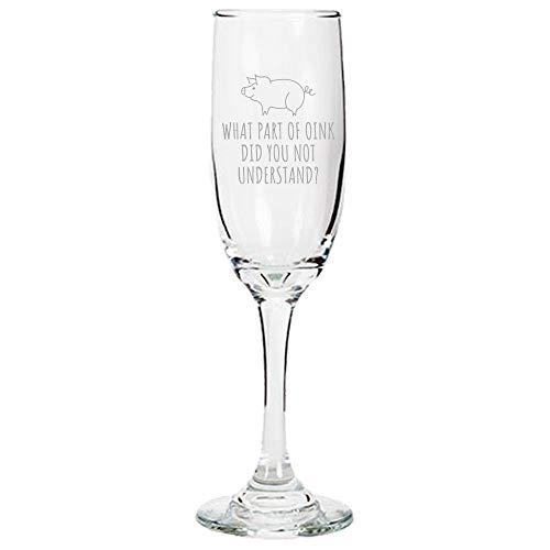 Leuke Knorretje Champagne Flute Pig Lover Gift Mini Varken Present idee welk deel van Oink Heb je niet begrepen