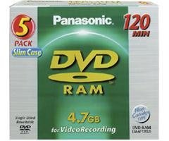 Panasonic DVD-RAMs (LM-AF120LU5)