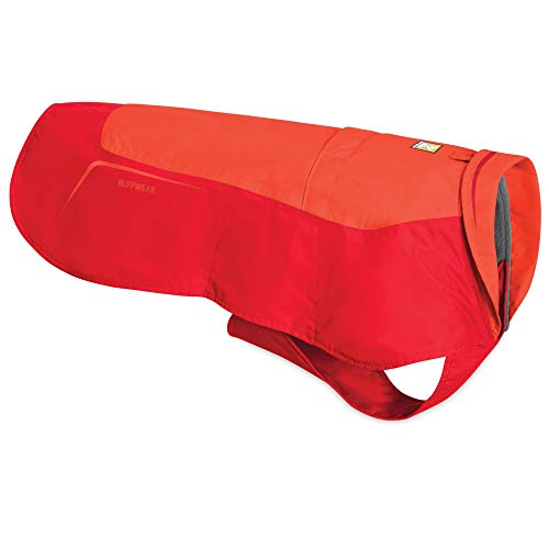 "Ruffwear Hundejacke ""Vert"", Wasserdichter Hundemantel – Rotlachs-Rot, M"