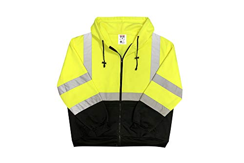 Safety Main Lightweight High Visibility Hooded Jacket, X-Large