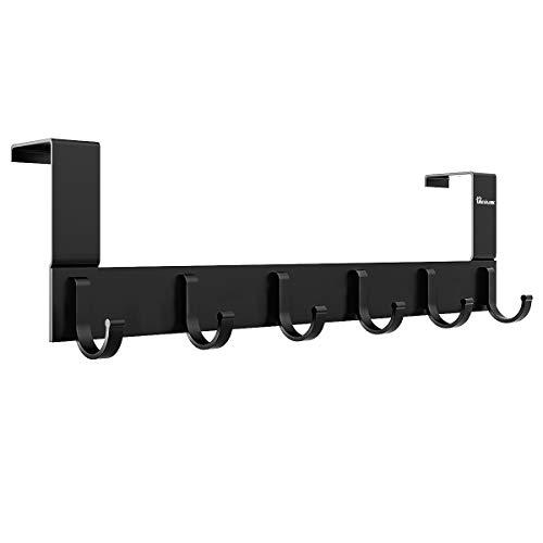 Anjuer Türhänger, Aluminium, Schwarz , 6 hooks Black