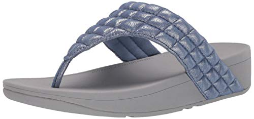 FitFlop womens TOE POST,Blue,8 M US