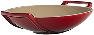 Le Creuset Stoneware Wok Dish, 28-Ounce, Cerise (Cherry Red)