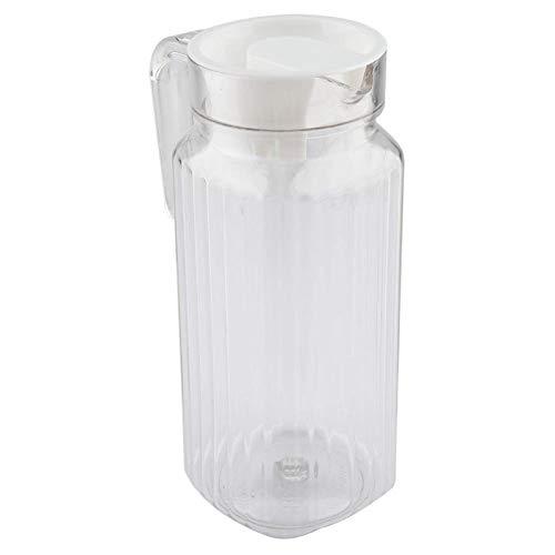 Jarra Agua Cristal, 800ml Botella Cristal Acrílico Jarras de Cristal con Tapon y Asa Botella Agua Nevera para Jugo Caliente Frío Té Leche