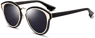 Sunglasses Fashion Accessories Retro Style Sunglasses Minimalist Design Suitable for Outdoor Driving (Color : Black)