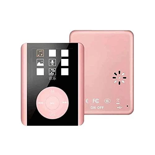 Z-Color 1 6GB Bluetooth MP3 Reproductor, Reproductor de música de Alta fidelidad de Sonido sin pérdida. FM Radio Voice Recorder, soporta 64GB (Color : Pink)