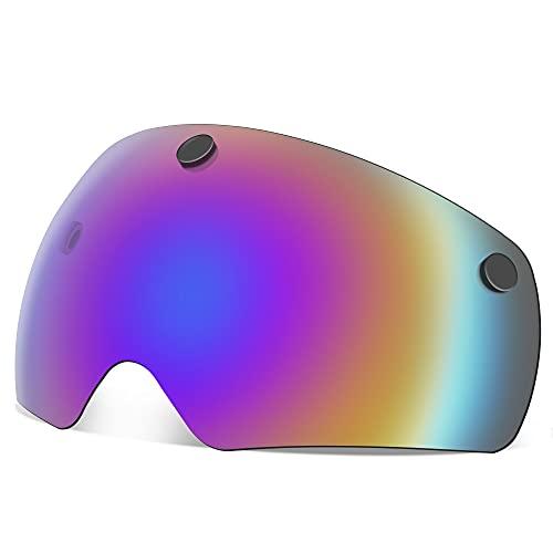 EASTINEAR Casco Bici Visiera Magnetica Occhiali, Accessorio Occhiali Staccabili per Casco Ciclismo,...