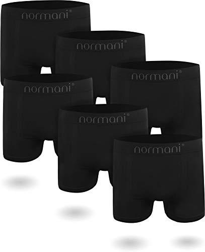 normani 6 oder 12 Mikrofaser-Unterhosen für Herren | atmungsaktive Sport-Funktions-Unterwäsche | Boxershorts | Retroshorts für Männer [Gr. S-3XL] Farbe 6 x Schwarz Größe L/XL