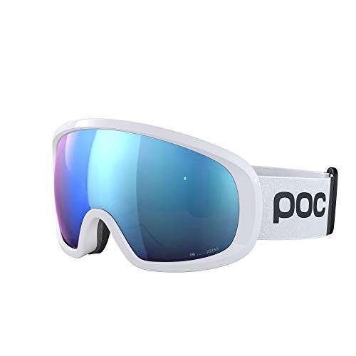POC, Fovea Mid Clarity Comp Goggles for Skiing and Snowboarding, Hydrogen White/Spektris Blue, One Size