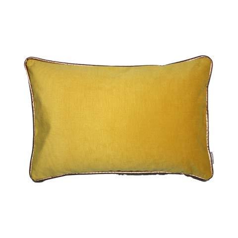 Raaf kussen Croc geel 35x50 cm