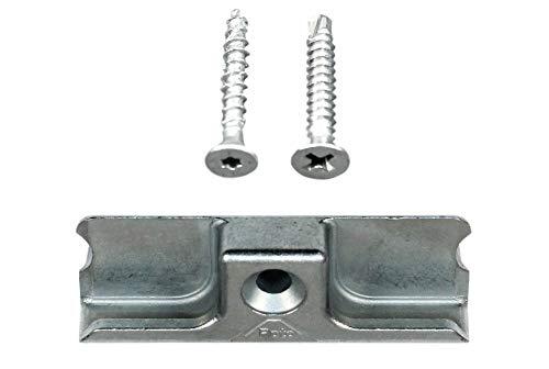 Roto Schließblech Schliessplatte 383341 oder auch 383341 1117 (378462) incl. SN-TEC Montagematerial