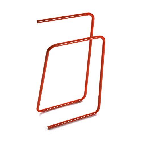 takestop Toallero rojo para el baño de metal, diseño moderno, montaje en pared