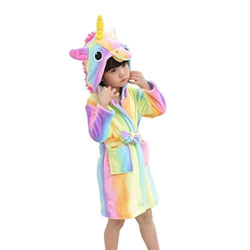 llwannr Albornoz de Invierno para niños Dibujos Animados Baby Bath Robe Stitch Unicorn Animal Toalla con Capucha Albornoces para niños Pijamas Niños Niñas...