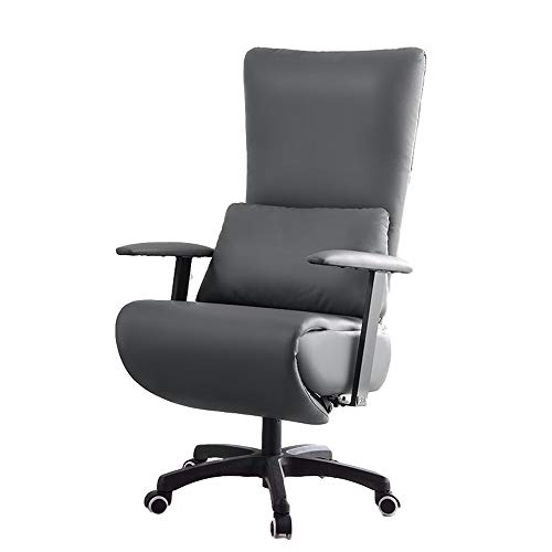 QCHEA Silla reclinable Acolchado del Asiento de Cuero PU for Sala de Estar sofá reclinable Moderno reclinable de Asiento for sillas de Club de Cine en casa de Estar (Color : Gray)