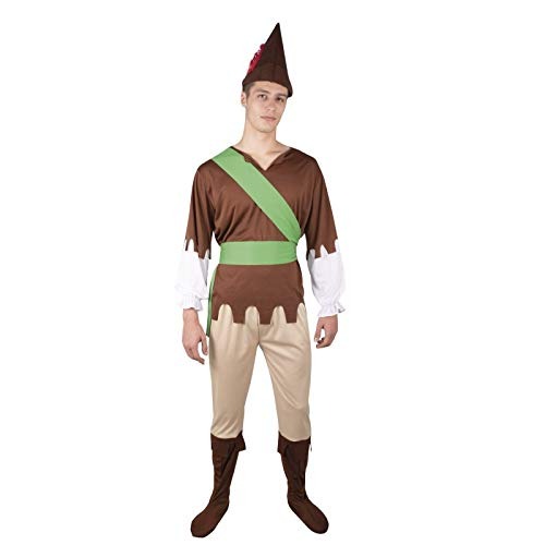 P 'tit clown 89390 kostuum voor volwassenen, eenheidsmaat, meerkleurig