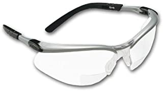 Crews BKH20 BearKat Magnifier Polycarbonate 2.0 Diopter Clear Lens Safety Glasses with..