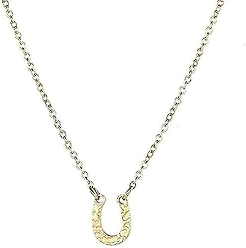 Collar de acero inoxidable en forma o collar con colgante Collar de pezuña de caballo Collar con colgante de herradura Collar de regalo rosa