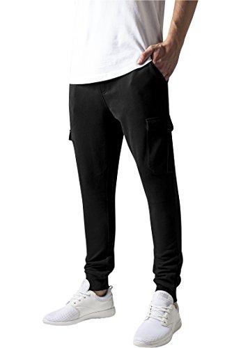 Urban Classics TB1395 Herren Hose Fitted Cargo Sweatpants  , Gr. W30/L31 (Herstellergröße: S), Schwarz (black 7)