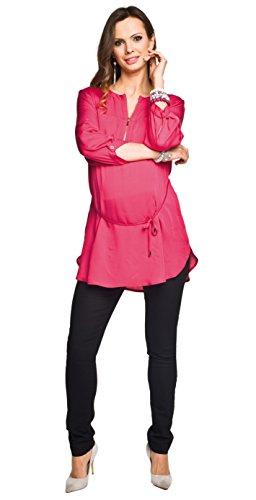 2in1 Umstandstunika - Bequeme und sehr schöne Schwangerschaftstunika, Stilltunika, Modell: Florence, rot, M
