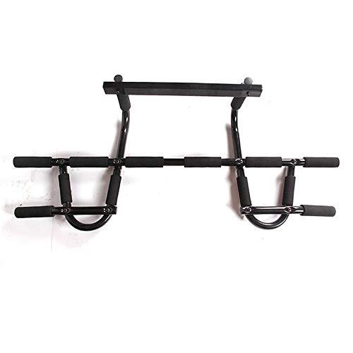 NgMik Pull-ups Türrahmen Klimmzugstange Home Fitness Exercise Multifunktionale Reck ohne Perforation Startseite Fitness-Turm (Color : Black, Size : 55x23x8.5cm)