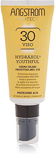 Angstrom Protect Crema Solare Anti Età, Protezione Solare 30+ con Prevenzione Antirughe e Antimacchie, Indicata per Pelli Sensibili, 40 ml