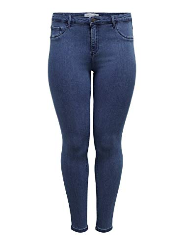 ONLY Carmakoma Female Skinny Fit Jeans Curvy Thunder Push Reg 54Medium Blue Denim
