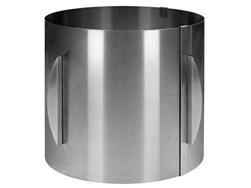 Tortenring XXL Torten-Ring Backrahmen Edelstahl rund verstellbar extra hoch 20cm