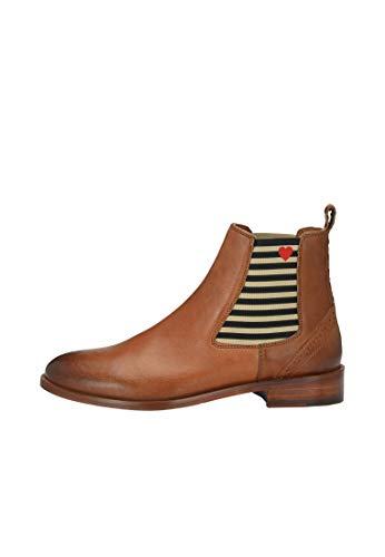 CRICKIT® Chelsea Boot Damen SUVI | Klassischer Chelsea Boot mit Streifen und Herzchen für Damen aus 100% Leder | Herz mit Streifen