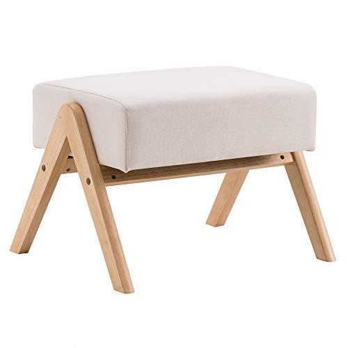 Footrest Stool Rectangle Modern Seat Footstool