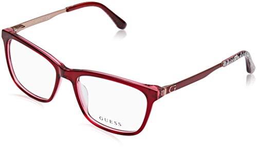 Guess Unisex-Erwachsene GU2630 068 52 Brillengestelle, Rot (Rosso)