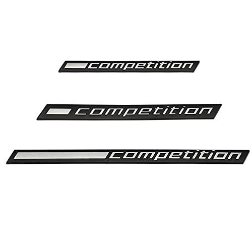 para la Competencia Logo Logo Sticker Emblem Badge Troncs Decal Compatible con BMW Thunder Edition M1 M2 M3 M4 M5 M6 M7 M8 M X3 X4 X5 x6 Z4 Audi TTS Logotipo del Emblema del Coche